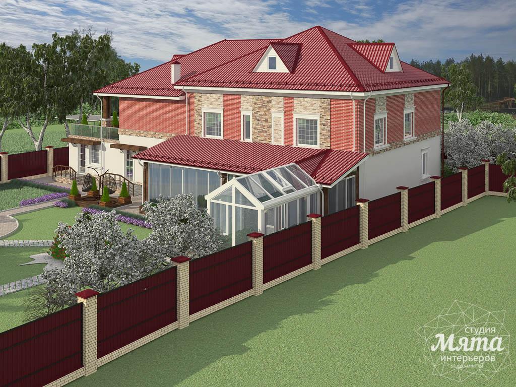 Дизайн фасада дома 532 м2 и бани 152 м2 г. Арамиль img809684008