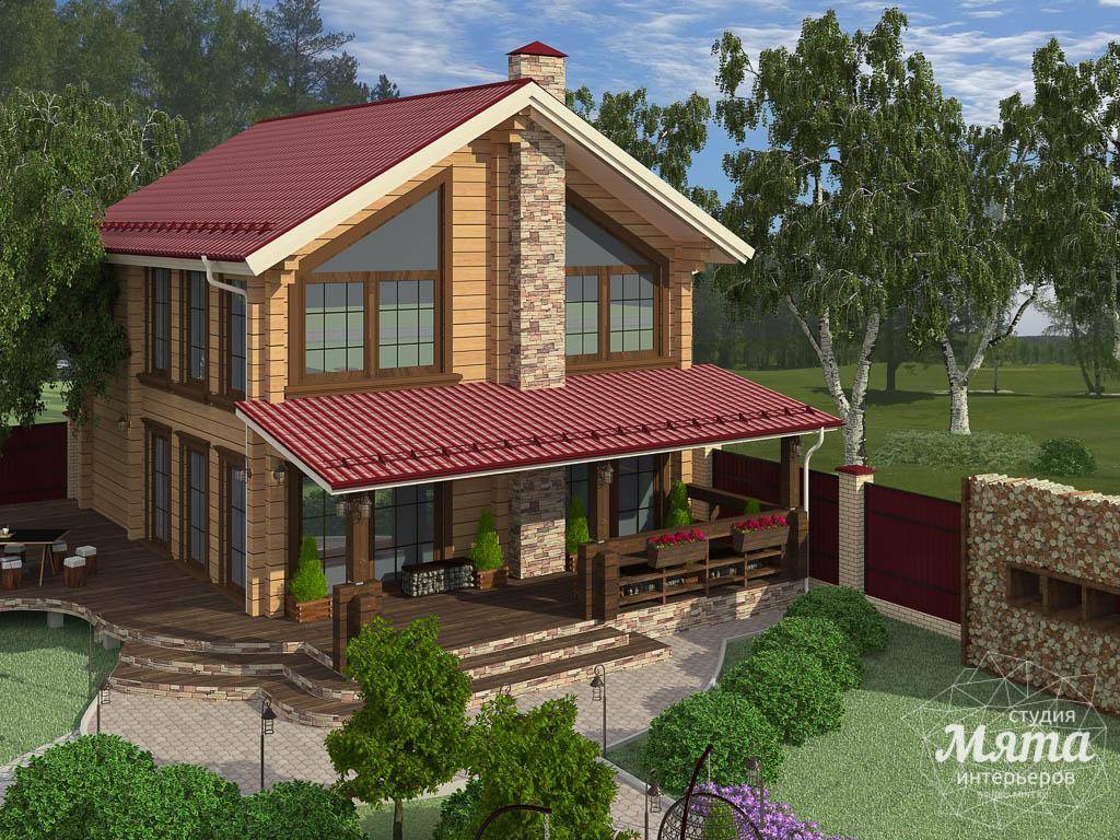 Дизайн фасада дома 532 м2 и бани 152 м2 г. Арамиль img550968066