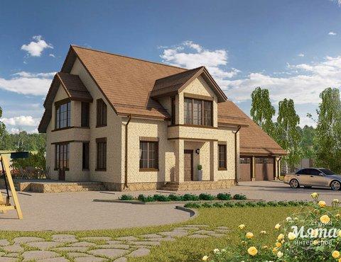 Дизайн проект фасада дома 330 м2 в КП Косулино