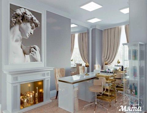 Дизайн интерьера и ремонт салона красоты в ЖК Флагман