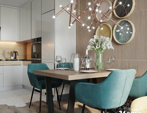 Дизайн интерьера двухкомнатной квартиры в ЖК Репин Парк