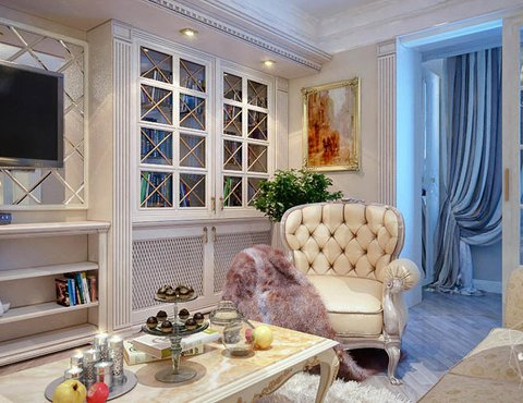 Дизайн интерьера четырехкомнатной квартиры в Тюмени
